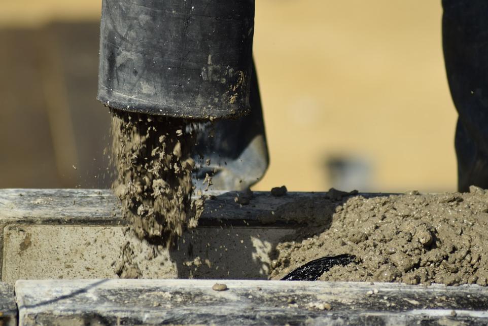 this image shows sacramento concrete pumping team at work